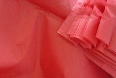 Rood papieren zakdoekje Stock Afbeelding