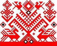 Rood patroon Stock Illustratie