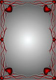Rood patroon met harten 3 Stock Fotografie