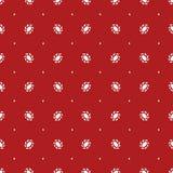 Rood patroon met witte ornamenten stock illustratie