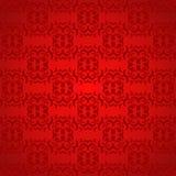 Rood Patroonbehang Royalty-vrije Stock Afbeelding