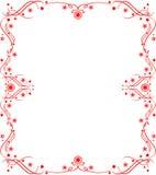 Rood patroonframe Royalty-vrije Stock Afbeeldingen