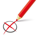 Rood Pen Vote Royalty-vrije Stock Fotografie