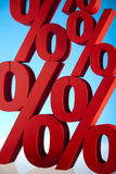 Rood percentagesymbool Stock Afbeelding