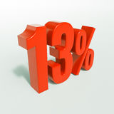 Rood Percententeken Royalty-vrije Stock Afbeelding
