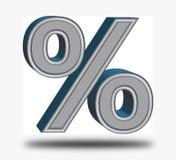 Rood percententeken op een zwarte achtergrond Royalty-vrije Stock Afbeeldingen