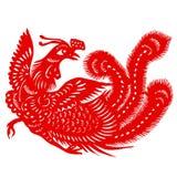 Rood Phoenix vector illustratie