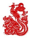 Rood Phoenix stock illustratie