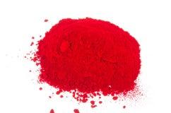 Rood pigment Stock Afbeelding