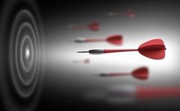 Rood pijltjes en doel vector illustratie