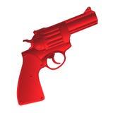 Rood pistool royalty-vrije illustratie