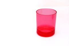 Rood plastic glas Stock Foto's