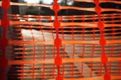 Rood plastiek voor de afbakening royalty-vrije stock afbeeldingen
