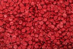 Rood polymeer Stock Afbeeldingen