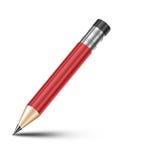 Rood potlood vector illustratie