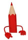 Rood potlood Stock Afbeelding
