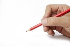 rood potlood ter beschikking Stock Afbeeldingen