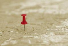 Rood punt op de kaart Stock Fotografie