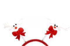 Rood rendier hairband stock afbeelding