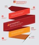 Rood Retro Infographics-ontwerp, voor tekst Stock Foto's