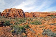 Rood rotsenpanorama Stock Afbeelding