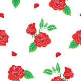 Rood rozen naadloos patroon Royalty-vrije Stock Foto's