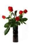 Rood rozenboeket Stock Afbeelding
