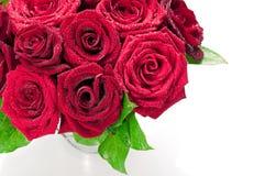 Rood rozenboeket Stock Foto