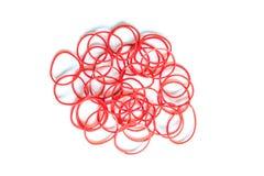 Rood rubber op wit royalty-vrije stock fotografie