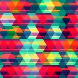 Rood ruit naadloos patroon Stock Afbeelding