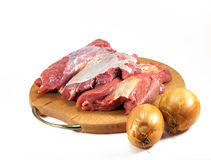 Rood ruw vlees Stock Fotografie