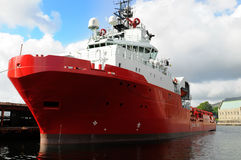 Rood schip royalty-vrije stock foto