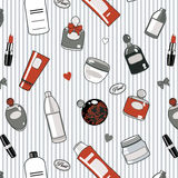 Rood-schoonheidsmiddelen--patroon royalty-vrije illustratie