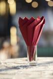 Rood servet Royalty-vrije Stock Afbeelding