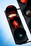 Rood signaal op voetverkeerslicht Stock Foto