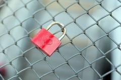 Rood slot met hart Stock Afbeelding