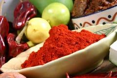 Rood Spaanse peperspoeder Stock Afbeelding
