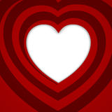 Rood spiraalvormig hart - vectorillustratie. stock illustratie