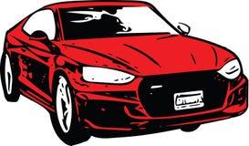 Rood Sportscar-Voertuigsilhouet Royalty-vrije Stock Foto's