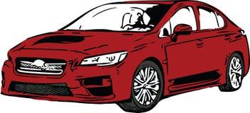 Rood Sportscar-Voertuigsilhouet Stock Fotografie