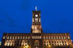 Rood Stadhuis (Rotes Rathaus) in Berlijn Stock Foto