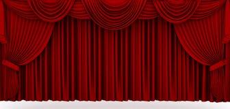Rood stadiumgordijn Royalty-vrije Stock Afbeeldingen