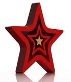 Rood ster 3d pictogram Stock Afbeeldingen