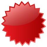 Rood sterpictogram royalty-vrije illustratie