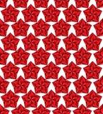 Rood sterren naadloos patroon. Stock Afbeelding