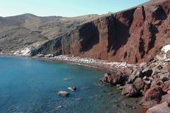 Rood strand royalty-vrije stock afbeelding