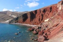 Rood Strand, Santorini Royalty-vrije Stock Fotografie