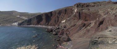 Rood strand in Santorini Royalty-vrije Stock Afbeelding
