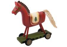 Rood stuk speelgoed paard Stock Fotografie
