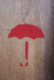 Rood symbool op triplex stock afbeelding